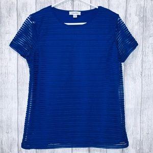 Calvin Klein blue top